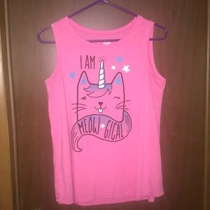 Girls Justice I Am Meow -Gical Tank Top